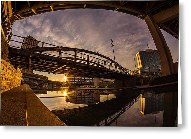 Greeting Card featuring the photograph Canalside Dawn No 6 by Chris Bordeleau