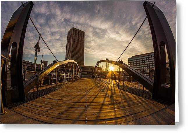 Greeting Card featuring the photograph Canalside Dawn No 7 by Chris Bordeleau