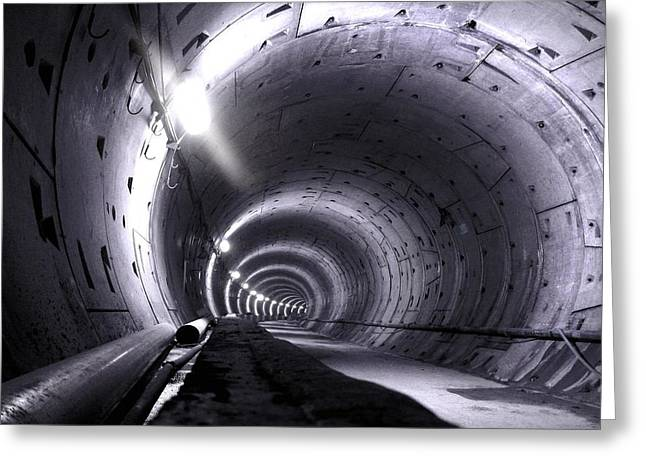 Cananda Line Tunnel Greeting Card by Liz Towers