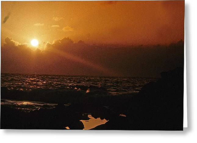 Greeting Card featuring the photograph Canary Islands Sunset by Gary Wonning