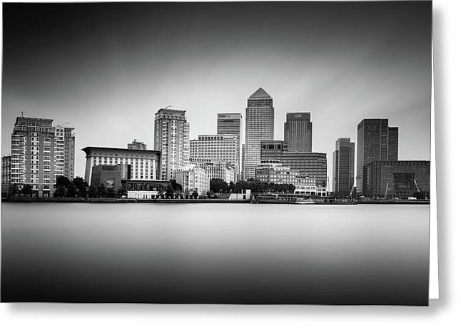 Canary Wharf, London Greeting Card by Ivo Kerssemakers