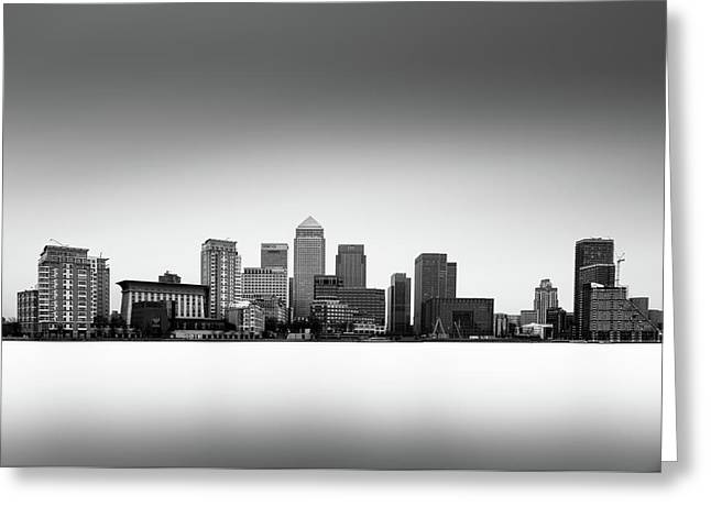 Canary Wharf Skyline Greeting Card by Ivo Kerssemakers