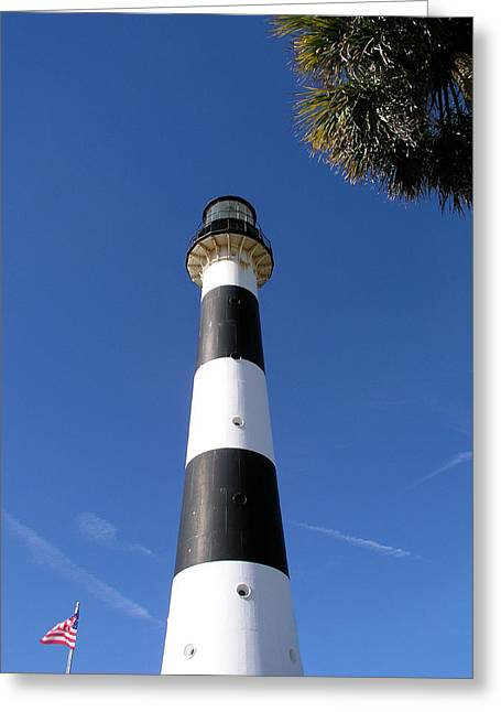 Canaveral Light Greeting Card by Allan  Hughes