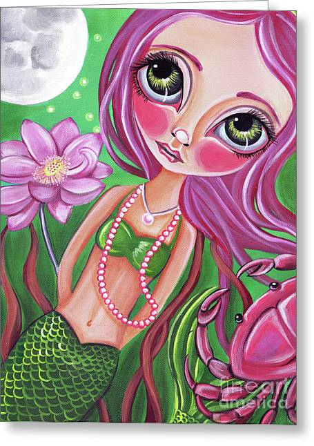 Cancer - Zodiac Mermaid Greeting Card