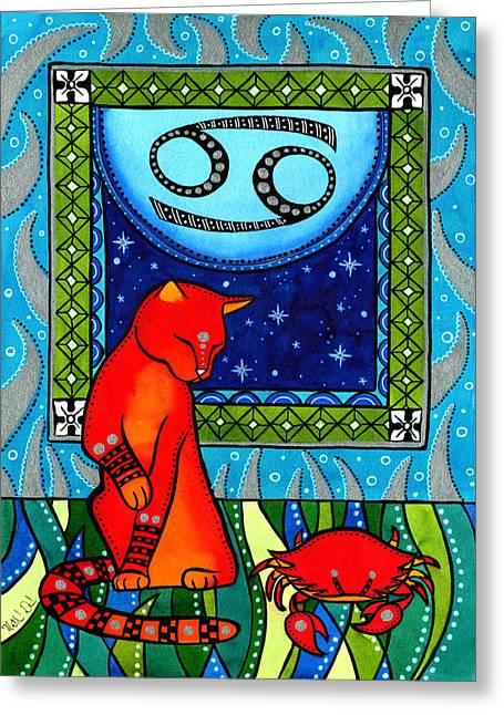 Cancer Cat Zodiac Greeting Card