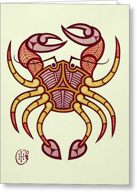 Celtic Knotwork Greeting Cards - Cancer Greeting Card by Ian Herriott
