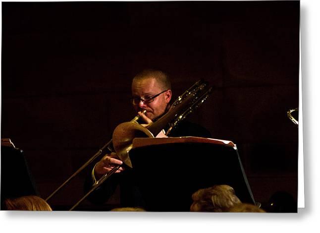 Greeting Card featuring the photograph Cancon Primi Toni - Trombone by Miroslava Jurcik