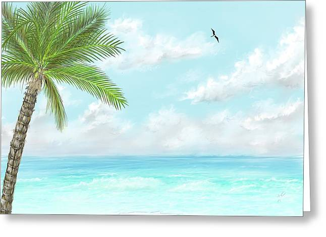 Greeting Card featuring the digital art Cancun At Christmas by Darren Cannell