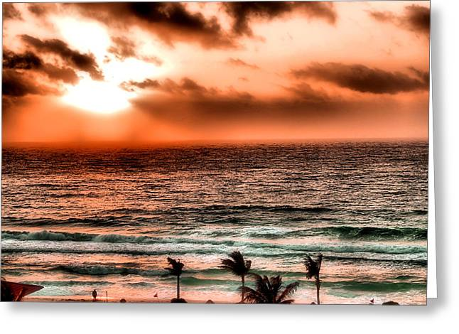 Cancun Sunrise 3 Greeting Card