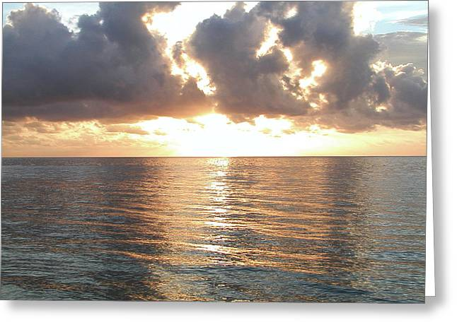 Cancun Greeting Cards - Cancun Sunrise Greeting Card by Bill Cannon