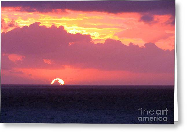 Greeting Card featuring the photograph Sunrise Interrupted by Rick Locke