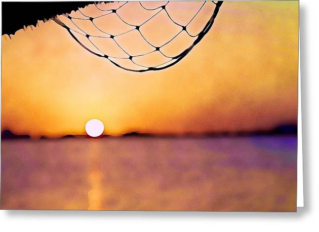 Cancun Sunset On The Lake Greeting Card