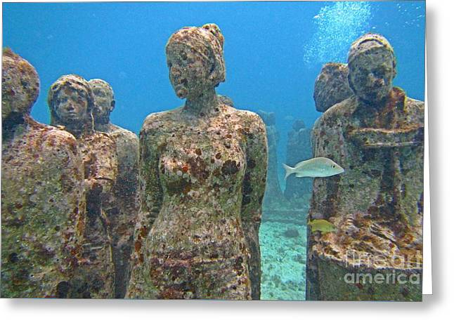 Cancun Underwater Museum Three Greeting Card