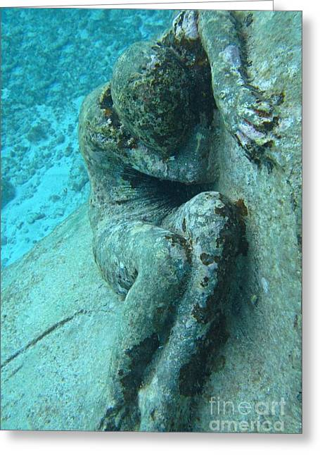 Cancun Underwater Museum Two Greeting Card by John Malone