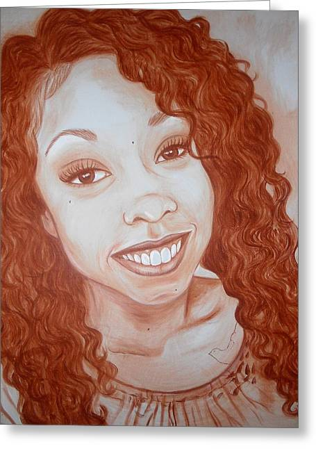 Candace Greeting Card by Jenny Pickens