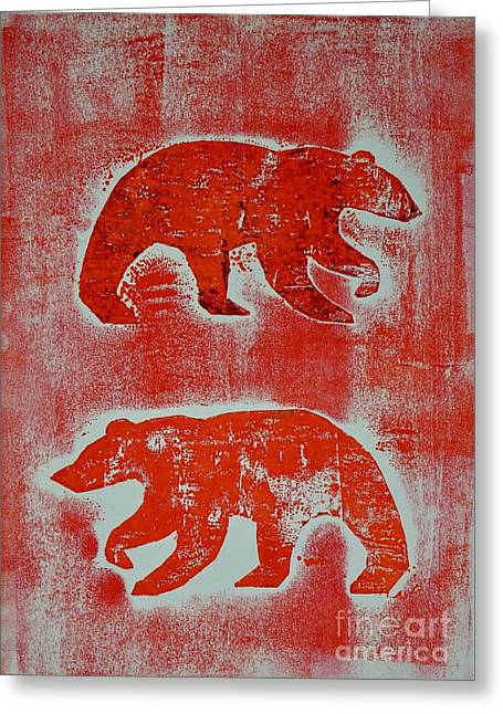 Candadian Bears Two  Greeting Card