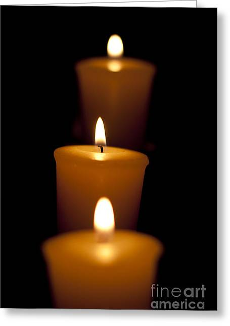 Candelabra Greeting Card by Jorgo Photography - Wall Art Gallery
