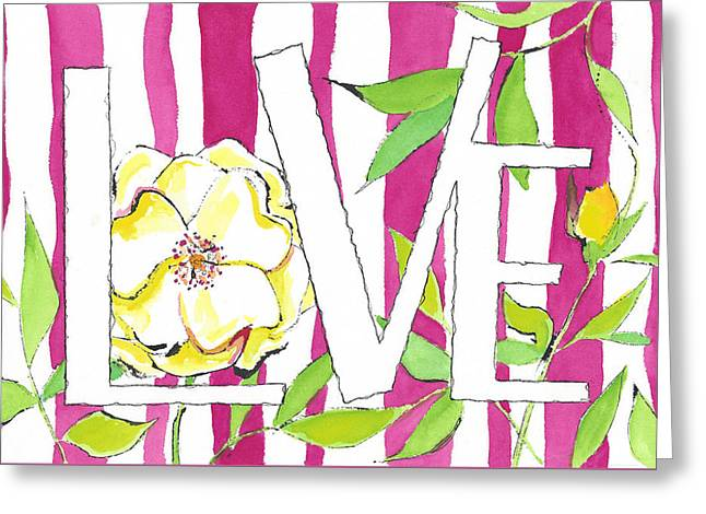 Candied Love Greeting Card by Faith Teel