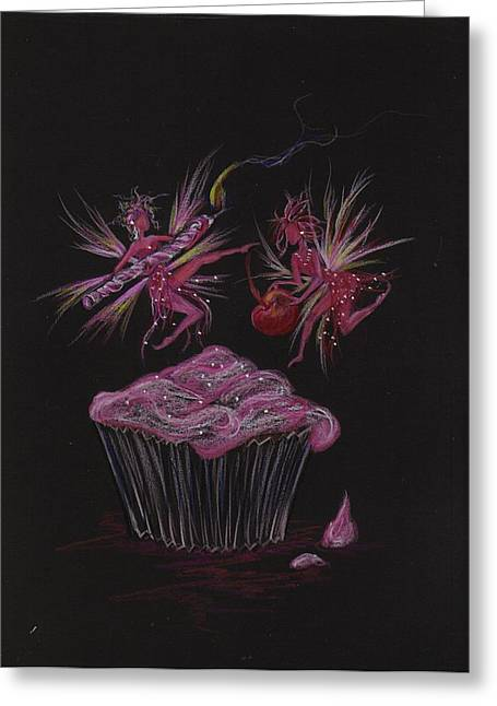 Candle Cherry Greeting Card by Dawn Fairies
