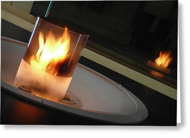Candle Fire Greeting Card