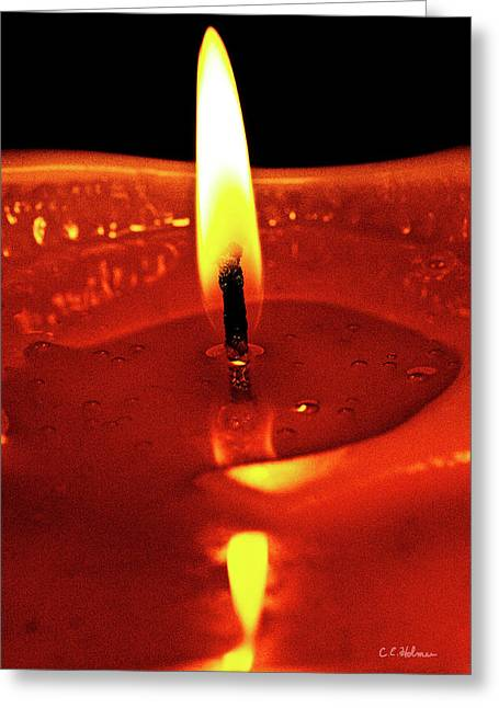 Candle Flame Greeting Card by Christopher Holmes
