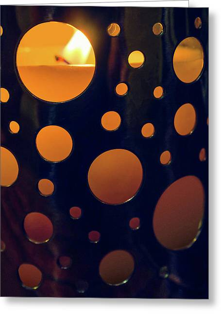 Greeting Card featuring the photograph Candle Holder by Carlos Caetano