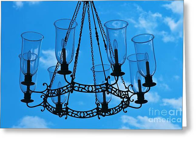 Candle In The Sky Greeting Card by Hideaki Sakurai