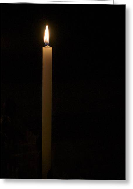 Candle Light Greeting Card by Marion McCristall