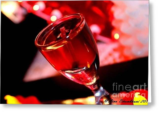 Candle Light Red Essence Greeting Card