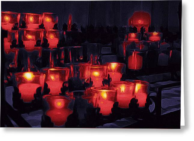 Candle Lights Greeting Card by Art Spectrum