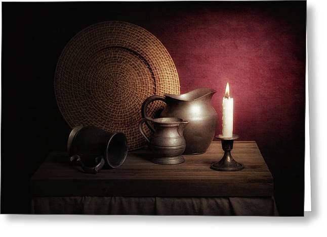 Candle Light Still Life Greeting Card
