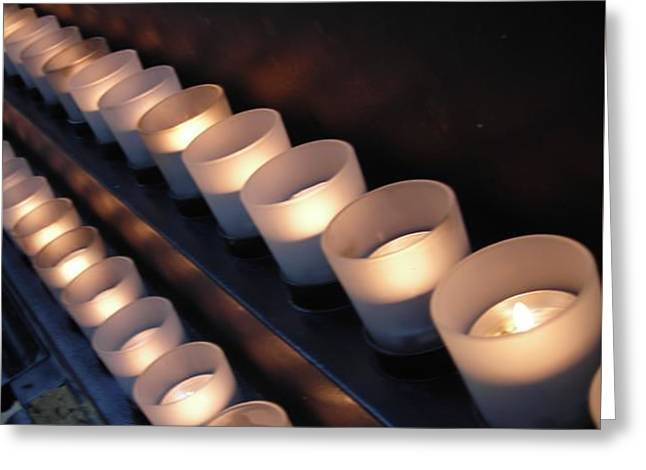Candle Line Greeting Card