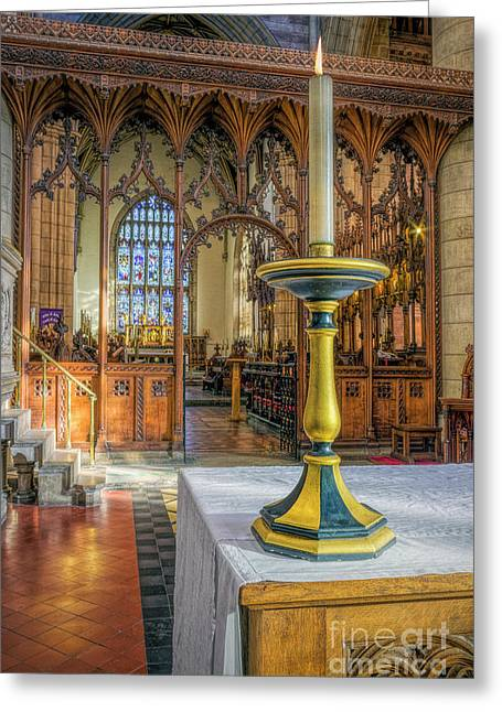 Greeting Card featuring the photograph Candle Of  Prayer by Ian Mitchell