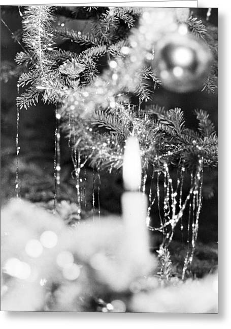 Candle On A Christmas Tree Greeting Card