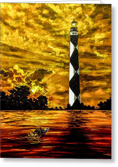 Candle On The Water Greeting Card