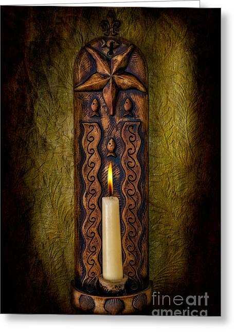 Candlelight Greeting Card by Adrian Evans