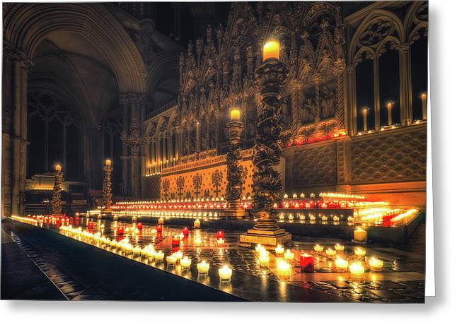 Greeting Card featuring the photograph Candlemas - Altar by James Billings