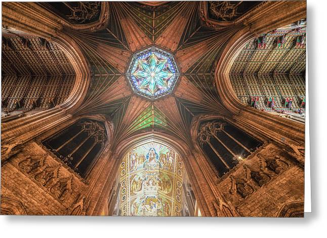 Greeting Card featuring the photograph Candlemas - Octagon by James Billings