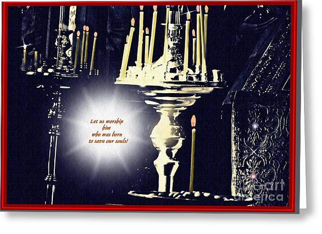 Candles In Church Card 2 Greeting Card