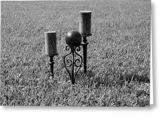 Candle Stand Greeting Cards - Candles In Grass Greeting Card by Rob Hans