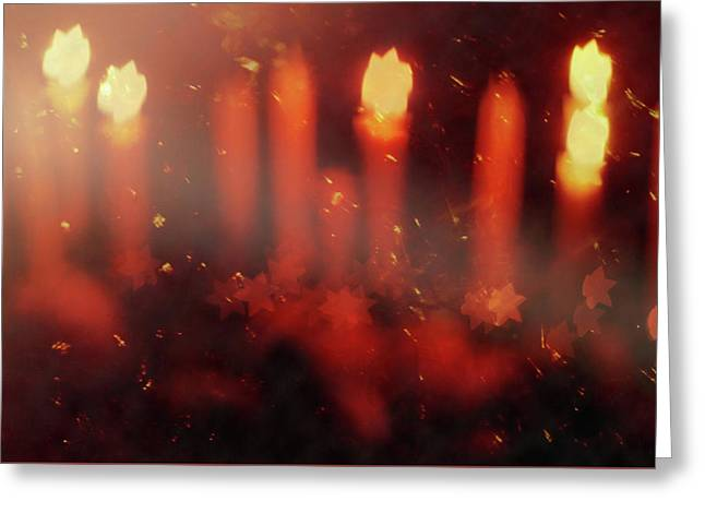 Candles In The Wind Greeting Card by AugenWerk Susann Serfezi
