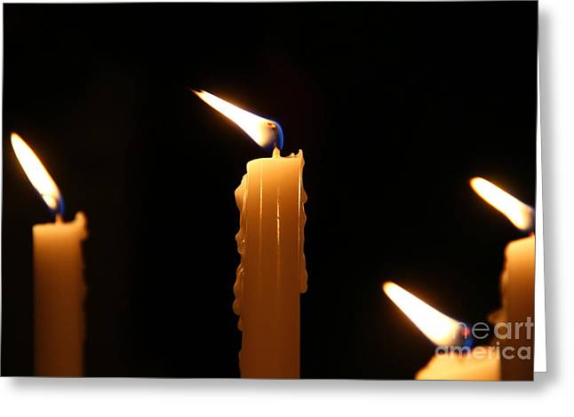 Candles Greeting Card by Marina McLain