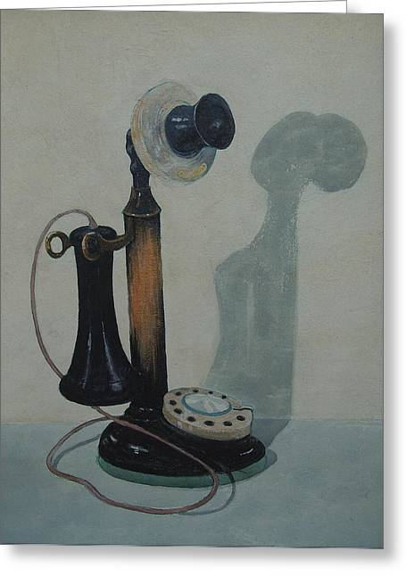 Candlestick Telephone Greeting Card