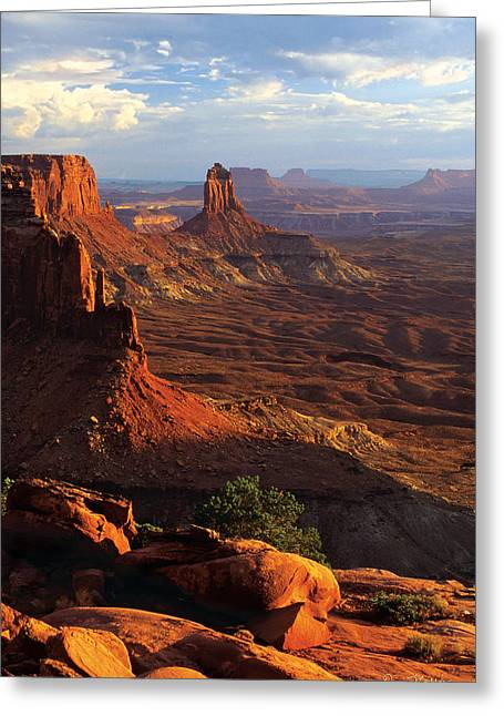 Candlestick Tower Sunset Greeting Card