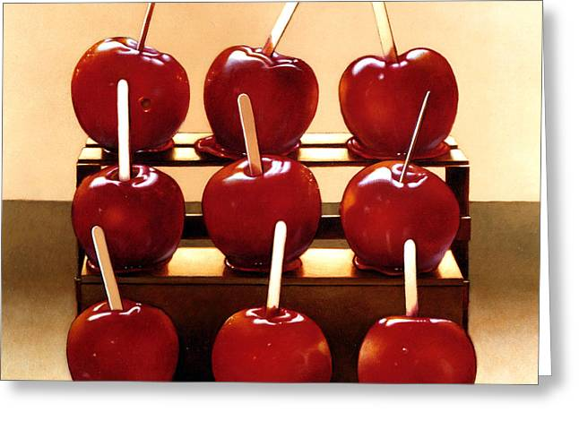 Candy Apples Greeting Card by Larry Preston