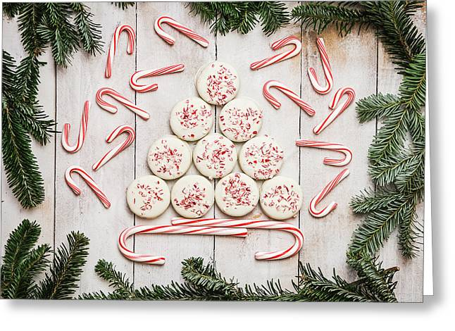 Candy Cane Lane Greeting Card by Kim Hojnacki