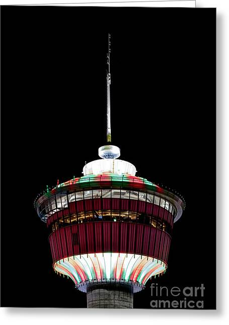 Greeting Card featuring the photograph Candy Cane Tower by Brad Allen Fine Art