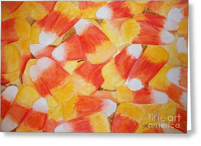 Candy Corn Greeting Card by Carol Grimes