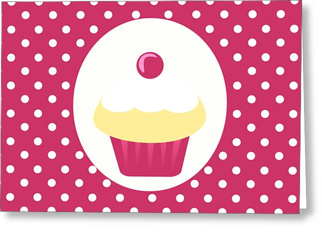 Candy Cupcake  Greeting Card by Kourai