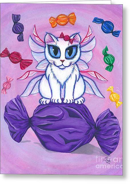 Candy Fairy Cat, Hard Candy Greeting Card